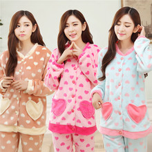 2016 new autumn/winter maternity sleep wear and Lounge breastfeed clothing pregnancy home wear sleep warm clothing thicken dress