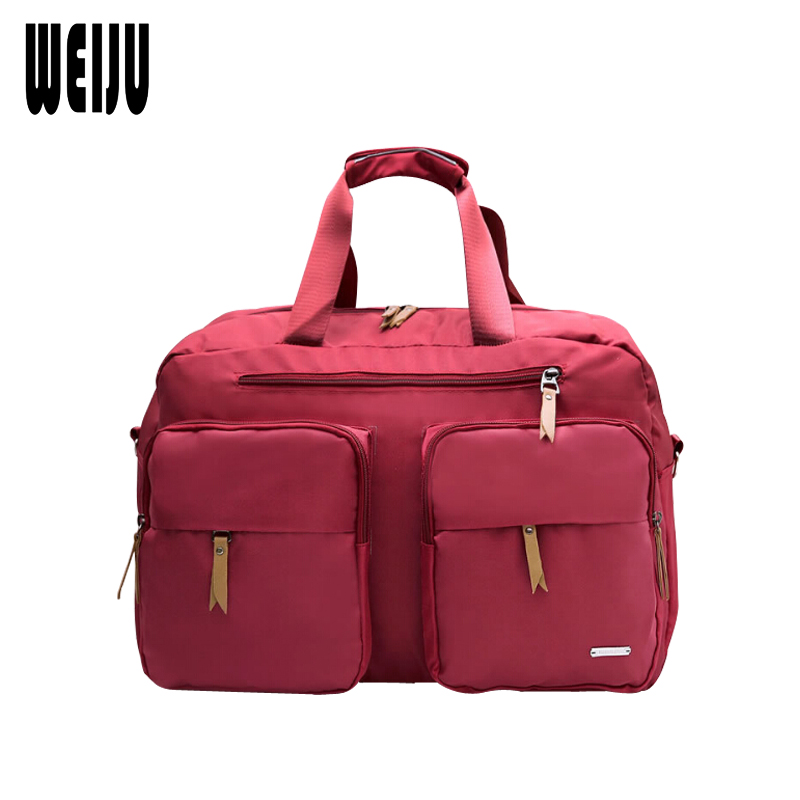 WEIJU Women Large Capacity Travel Bag Female Simple Handbag Shoulder Bag Men Waterproof Casual Travel Messenger Bags