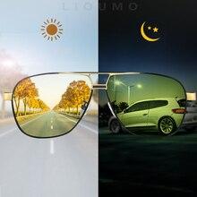 יום לילה אינטליגנטי Photochromic מקוטב משקפי שמש גברים משקפי שמש לנהגים נשים בטיחות נהיגה UV400 שמש משקפיים Oculos