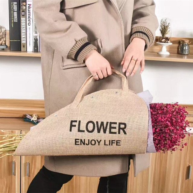 Flower Gift cloth Handbags Bouquet Packing Box  Flower Portable Case Packaging Decoration 1pc