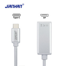 JianHan USB-C Type C USB 3.0 Male to DisplayPort (DP) Adapter Cable Aluminium Case USB-C to DP Female for New Macbook ChromeBook usb c to mini displayport adapter type c mini dp male to male cable for macbook 2017 16 15 dell xps