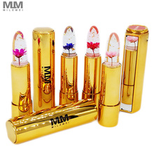 4pcs Flower Lipstick temperature change Moisturizer Jelly Magic Color Nutritious Lip Balm waterproof Makeup
