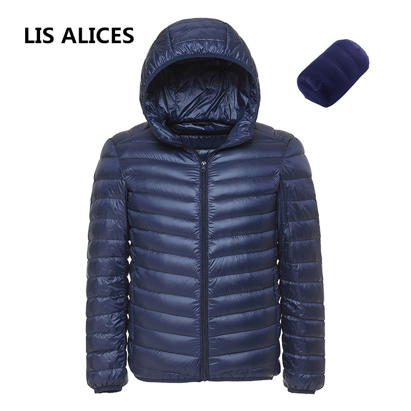 2019 New Brand Arrive White Duck Down Jacket Men Autumn Winter Warm Coat Men's Light Thin Duck Down Jacket Coats