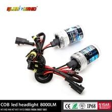 2 шт. 55 Вт H1 ксенон H7 H4 H11 H3 H8 H9 HB4 9006 HB3 9006 H27 881 HID ксеноновая лампа для автомобильных фар 4300K 5000K 6000K 8000K HID лампы
