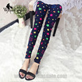 WomensDate 2016 Autumn Girl Was Thin Wild Elastic Pants Color Printing Stars Slim Hip Legging Pants Sexy Skinny Legging Pants