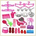 Conjunto de bijuterias colar brinco Bowknot Crown sacos Miroir cabide acessório para Bar bie bonecas de moda presente crianças para meninas