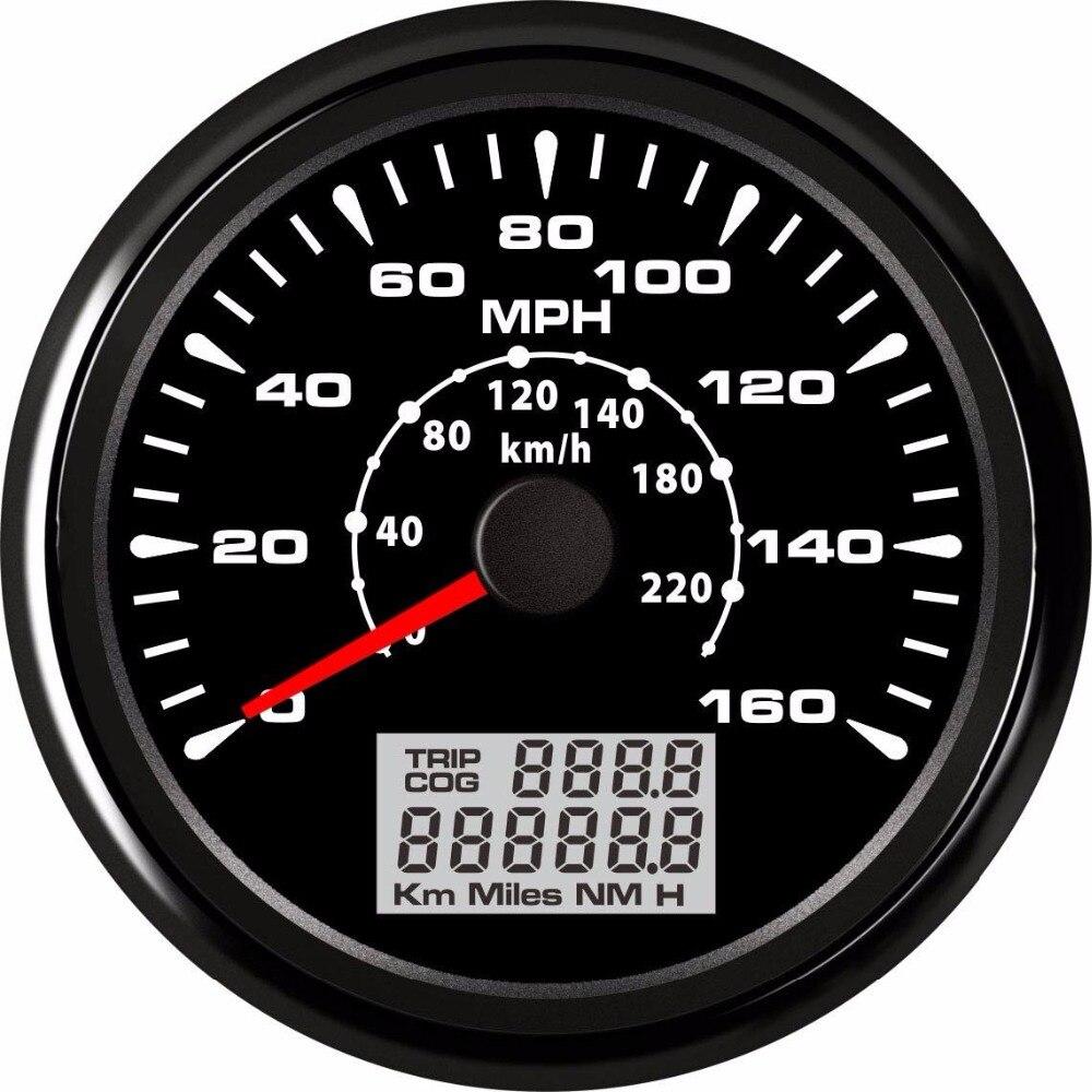 GPS tachimetro e contachilometri digitale per auto o barca con retroilluminazione 85/mm 12/V//24/V