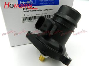 55593033 Thermostat Housing Fits CHEVROLET AVEO Corsa Adam Astra-J VAUXHALL ADAM GTC Corsa E D Corsavan Meriva 06-10 Termostato(China)