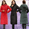 2016 New Free Shipping Women Down Cotton Padded Winter Coat Thick Middle Aged Mother Long Jacket