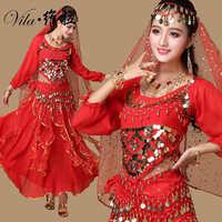 Plus Size 9pcs Set Belly Dance Costume Bollywood Costume Indian Dress Bellydance Dress Womens Belly Dancing