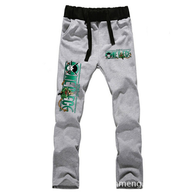 Anime  One Piece Zoro LOVERS pure cotton pants  casual trousers cosplay gift NEW Fashion