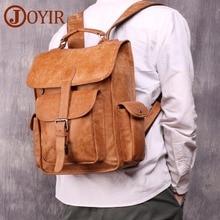 JOYIR Men's Backpack Genuine Cowhide Leather 14