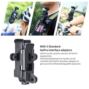 Image 3 - ULANZI OP 7 Vlog Extended Housing Case for DJI Osmo Pocket , Cage w Microphone Cold Shoe 3 GoPro Adapter for Motovlog helmet