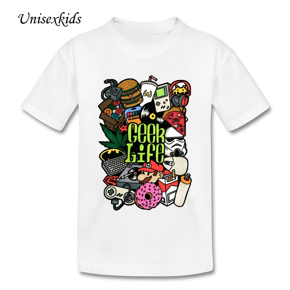 Design your own t-shirt for toddlers - Geek Life Baby T Shirt Personality Print Kids Shirt Toddler Short Sleeve 100 Cotton