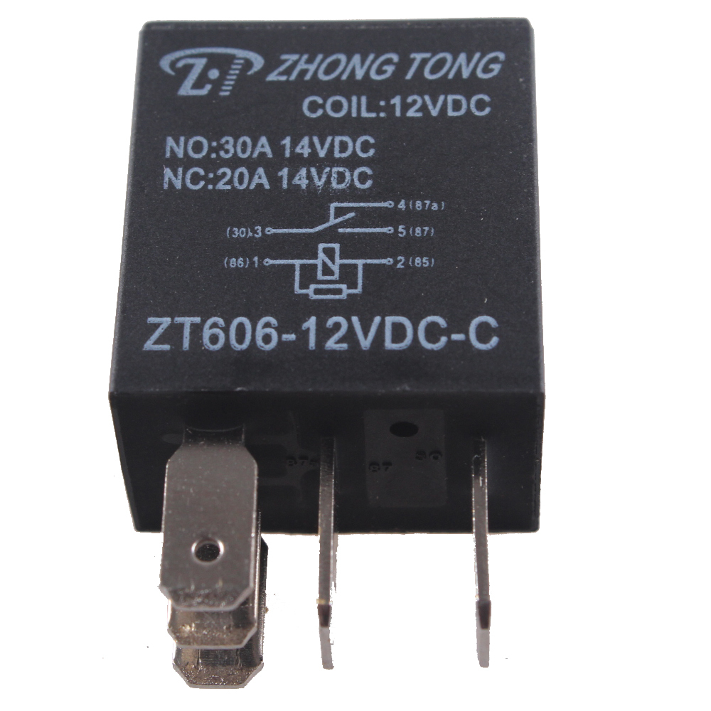 EE support 10 X Car Electronics 12V 20A/30A SPDT Relay For Fuel Pump Horn Kit 5P 5 Pins Car Styling XY01