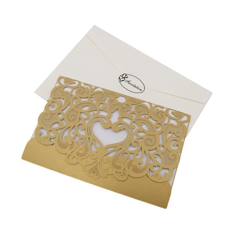 laser cut wedding invitations party elegant luxurious