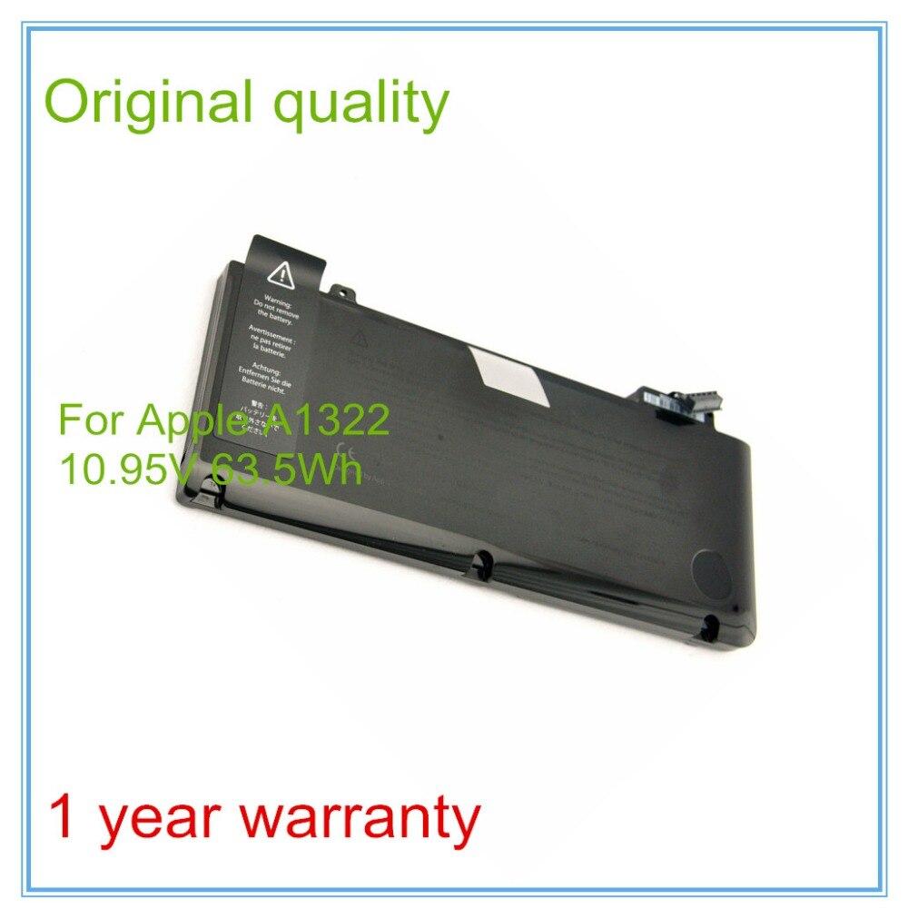 Jigu A1322 Original Laptop Battery For Apple Macbook Pro 13 A1278 Baterai Inchi New Unibody 2009 2012 Version 1095v