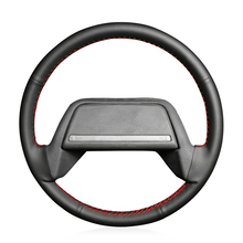 Hand-stitched Black Artificial Leather Anti-slip Car Steering Wheel Cover for Lada 2108-2115