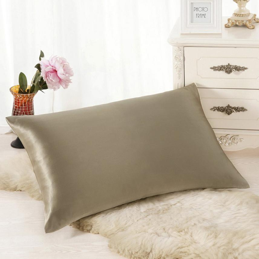 Pillow Case 30cm*50cm Rectangle Polyester fiber Cushion Covers Silk Throw Pillow Cover 17DEC21
