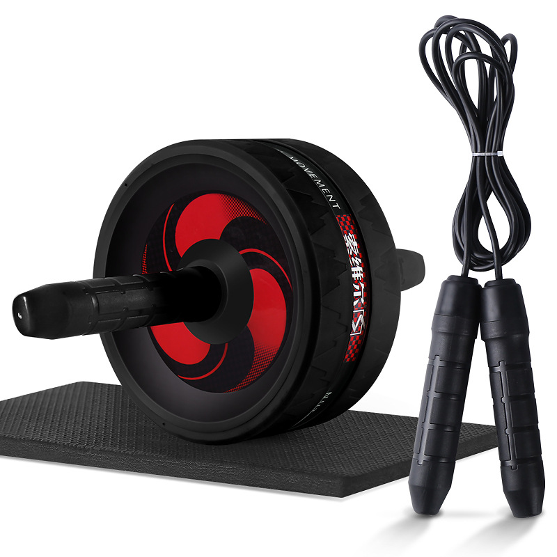 2 in 1 Abdominal Whell&Jump Rope No Noise Ab Wheels Abdominal Exercise Rollers with Mat for Exercise Fitness цена