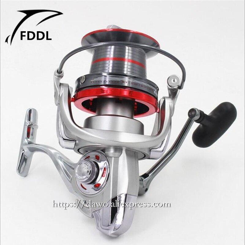 12000/10000 type Full metal 14 + 1 BB De Pêche Spécialisés gros poissons sans liquidation Moulinet de pêche 4.0: 1 lointain moulinet de pêche de roue