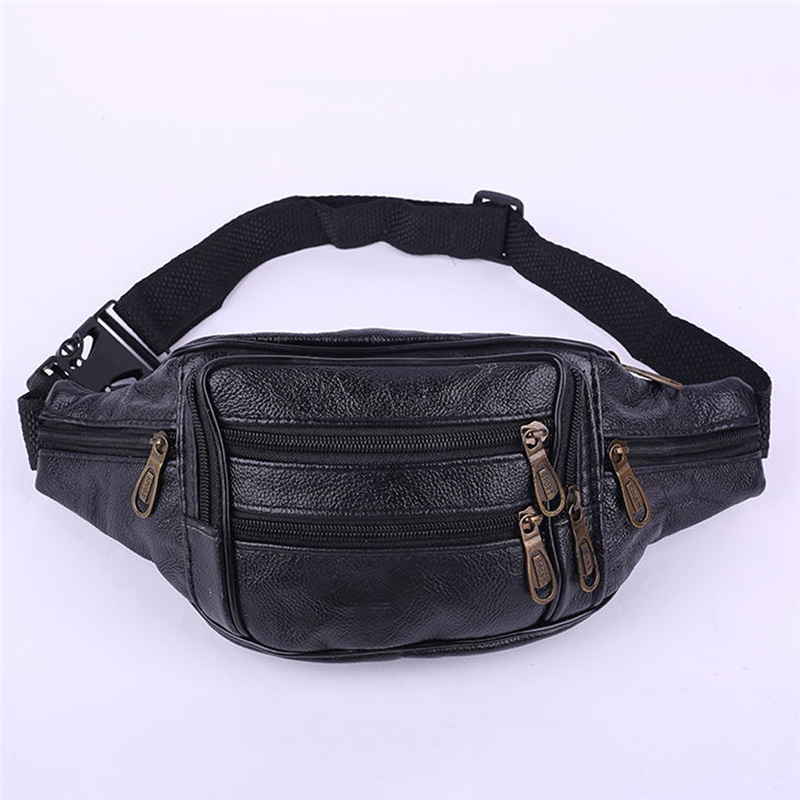 Retro Leather Fanny Pack For Women Mens Waist Belt Bag Womens Hip Pouch Travel Bag Hot Selling Popular
