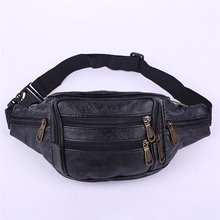 Retro Leather Fanny Pack For Women Mens Waist Belt Bag Womens Hip Pouch Travel Hot Selling Popular