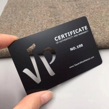 100pcs/lots laser cut out metal business card membership custom black