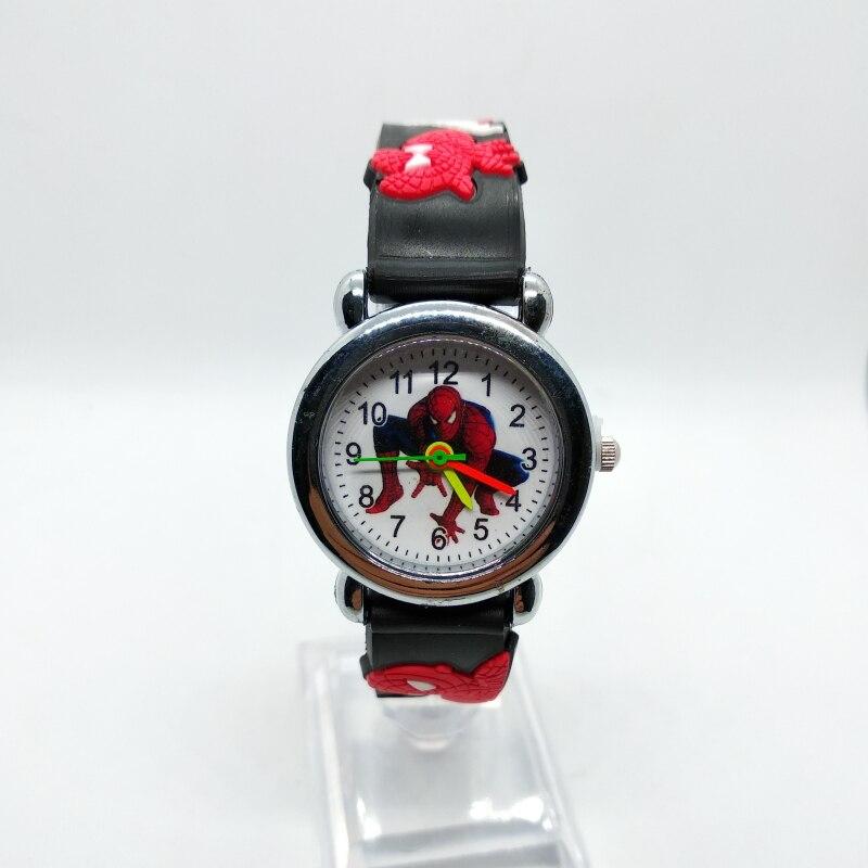 NEW 3D Spiderman Children's Watch Anime Clock For Boys Girls Kids Watches Spider Man Silicone Children Watch Baby Birthday Gift