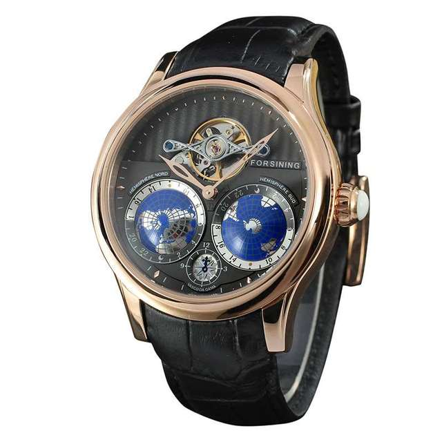 253848a78e17 2016 Top Luxury Brand Limited Edition Tourbillon Automatic Mechanical Watch  Men Leather Stainless Steel Mens Watches Casual