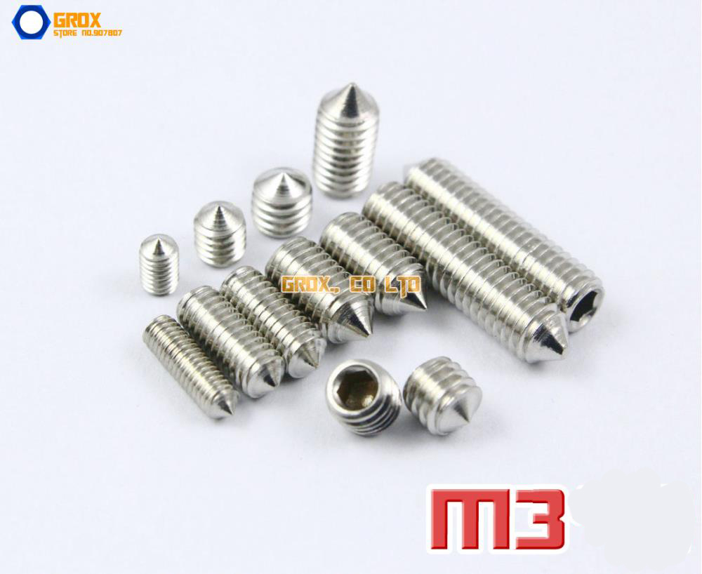 US $10 7 |M3 304 Stainless Steel Cone Point Grub Screws Hex Socket Set  Screw-in Screws from Home Improvement on Aliexpress com | Alibaba Group