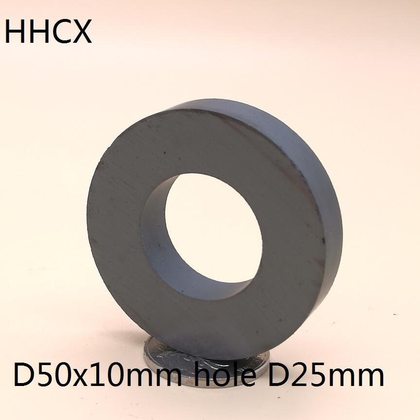 1pcs Y30 Ring Ferrite <font><b>Magnet</b></font> 50*10 mm Hole 25mm Permanent <font><b>magnet</b></font> <font><b>50mm</b></font> x 10mm Black Round Speaker <font><b>magnet</b></font> 50X10 50-25*10 image