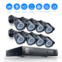 JOOAN 8CH 1080N CCTV DVR 8 X 720P 1280TVL Outdoor Security Camera 8CH Security Camera System