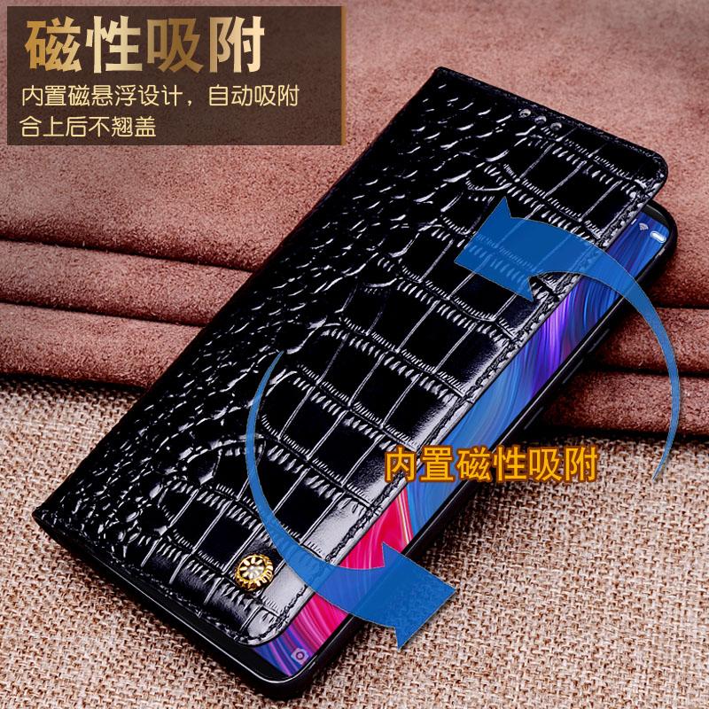Pour Xiao mi mi 8 etui mi 8 SE housse Flip luxe véritable cuir de vachette souple Silicone TPU téléphone Capa coque pour xiaomi mi 8 M8 SE - 3