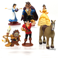 6pcs Set Beauty And The Beast Princess Bella Beast PVC Figures Collective Model Toys Girls Gifts