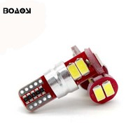 4pcs T10 W5W 194 6 LED 5630 SMD with lens canbus no error Car reading lamps auto parking lights wedge bulbs car accessories