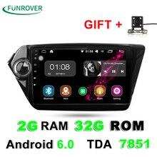 2G + 32G 2 Din Car dvd gps para Android 6.0 de 9 pulgadas Para Kia Rio K2 2012 2013 2015 2016 Navegación de Radio Del Coche reproductor multimedia estéreo RDS