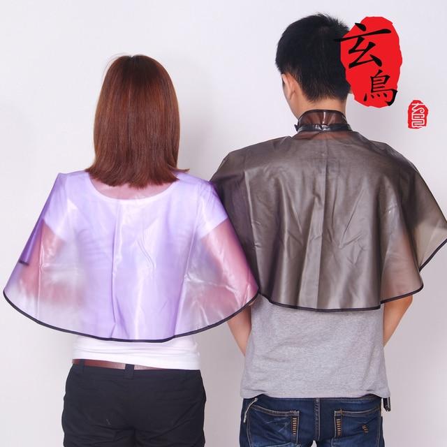 The new haircut Wai cloth shawl transparent PVC MFBA shampoo Hot Oil Hair barber cape H-007