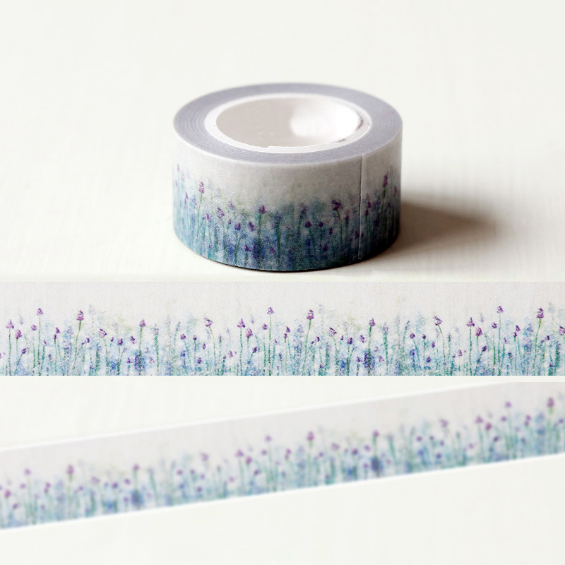 1 x 2cm 10m beautiful lavender washi tape diy decorative for Tape works decorative tape