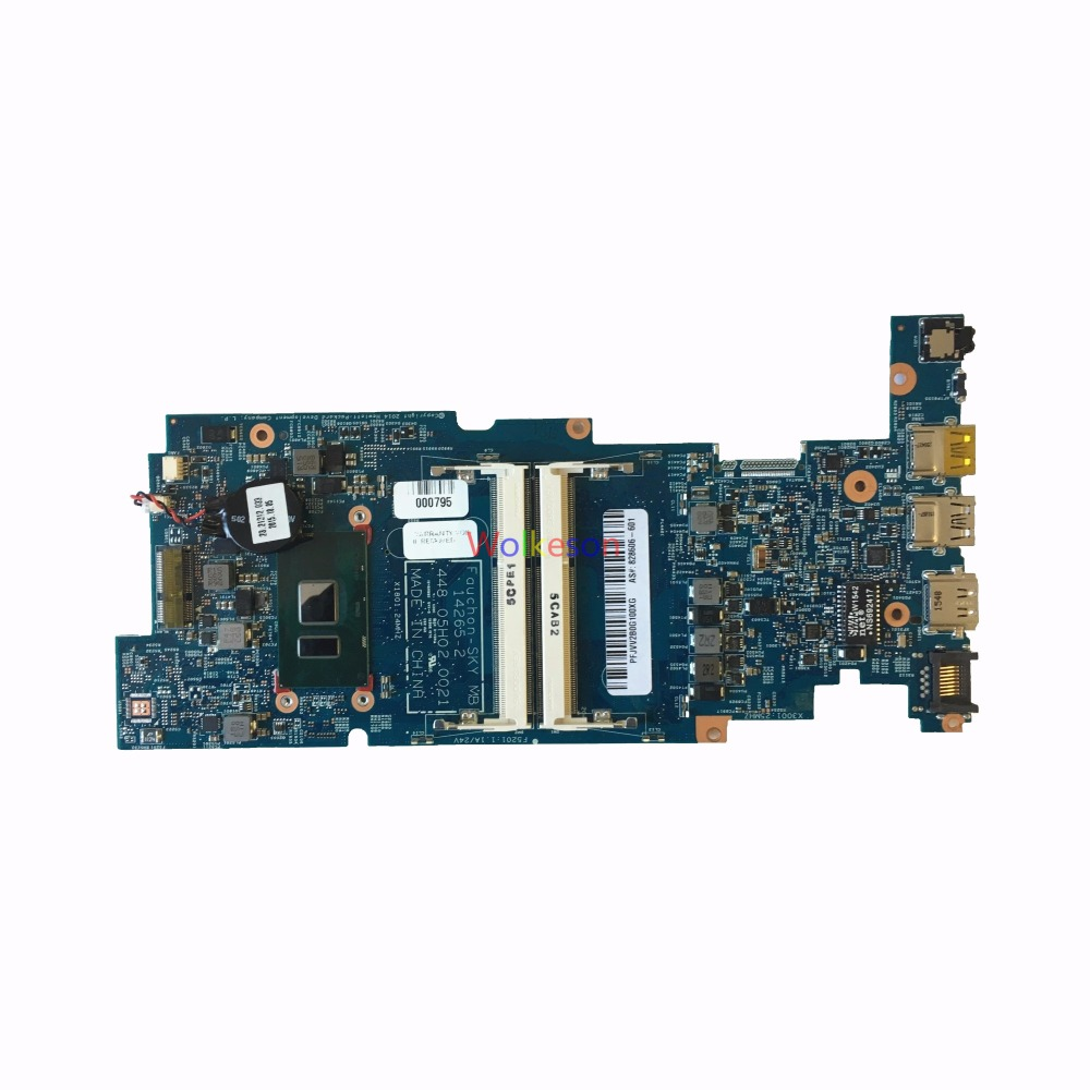 SHELI FOR HP Pavilion X360 13-S 13T-S Laptop Motherboard W/ I3-6100U CPU 828606-601 448.05H02.0021 14265-2 DDR3 Test Oke