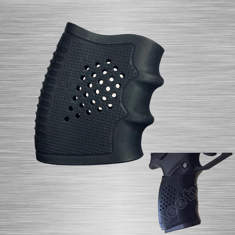 Tactical Grip Sleeve Grip Glove Slip On Grip Glove Rubber Cover Black Compatible With S&W M&P Pistol Taurus, Beretta