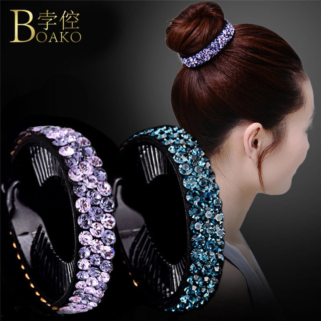 5 Colors Women Hair Accessories Rhinestone Flower Hairpin Cute Bird Nest Floral Twist Clip Hair Claws Headwear Dropshipping R5HF