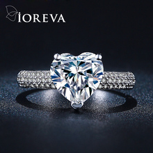 heart wedding engagement rings for women AAA Cubic Zirconia ring simulated diamond jewelry anel aneis feminino bague femme