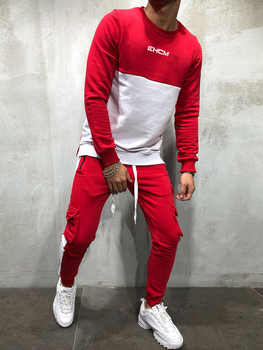 2018 New Men's Autumn Hoodies Tracksuit Set Male Sweatshirt Sweatpants Multi-pocket Fashion Trousers High Street Jackets Sets - DISCOUNT ITEM  30% OFF All Category