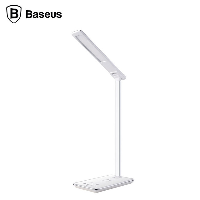 Baseus Ingert Series Foldable 2 in 1 Wireless Charging Table Lamp Adjustable LED Lighting Reading Light for Bedroom EU/US PLUG
