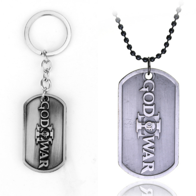 Online Game PS3 God of War III Alloy Keychain Necklace