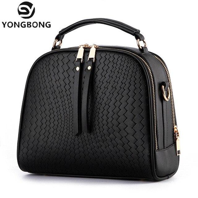 YONGBONG Candy Colors Women Box Woven Bags Weave Tassel Handbags Women Shoulder Knitting Bag Ladies Casual Women Messenger Bags