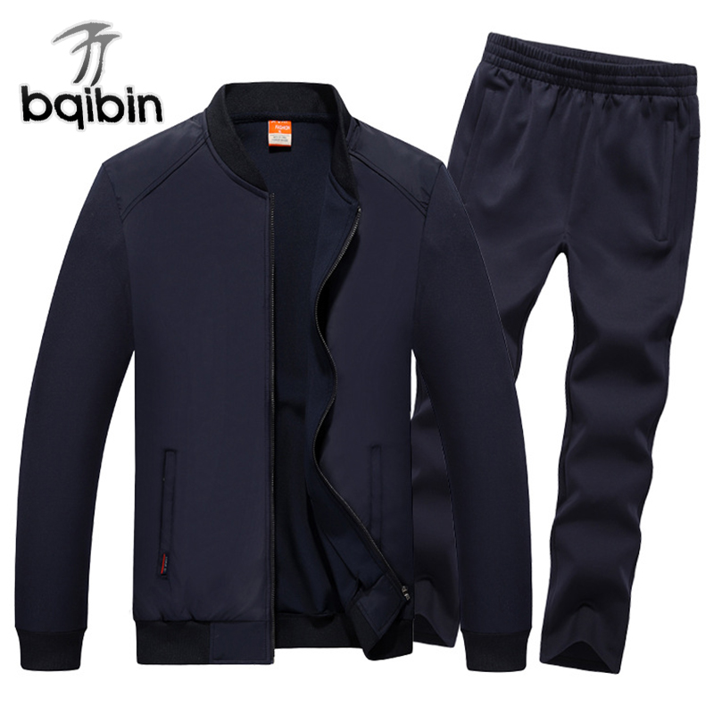 2018 Fashion Autumn Winter Men Sporting Suit Jacket+Pant Sweatsuit 2 Piece Set Sportswear Mens Clothing Tracksuit Set