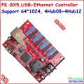 FK-BX5 controller, usb, ethernet, rj45 port, control size 1024*64,support HUB12,HUB08, monochrom,one color, two color controller