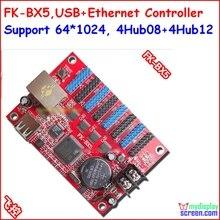 FK-BX5 контроллер, usb, ethernet, порт rj45, управление размером 1024*64, поддержка HUB12, HUB08, monochrom, один цвет, два цвета контроллер